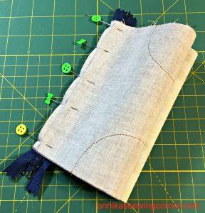 Denim Leather Pouch VII